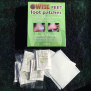 WiseFeet foot patches box and contents