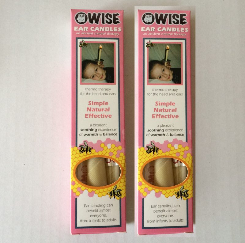 WISE twin box of ear candles