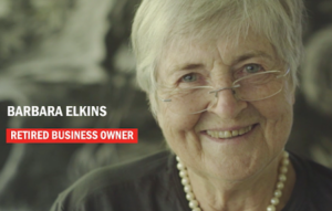 Barbara Elkins - click to view video about living life to the full